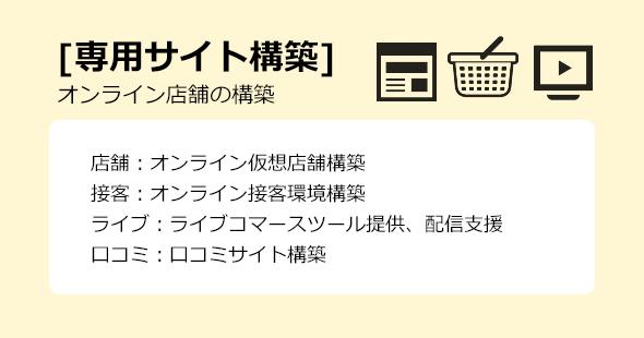 [専用サイト構築] オンライン店舗の構築